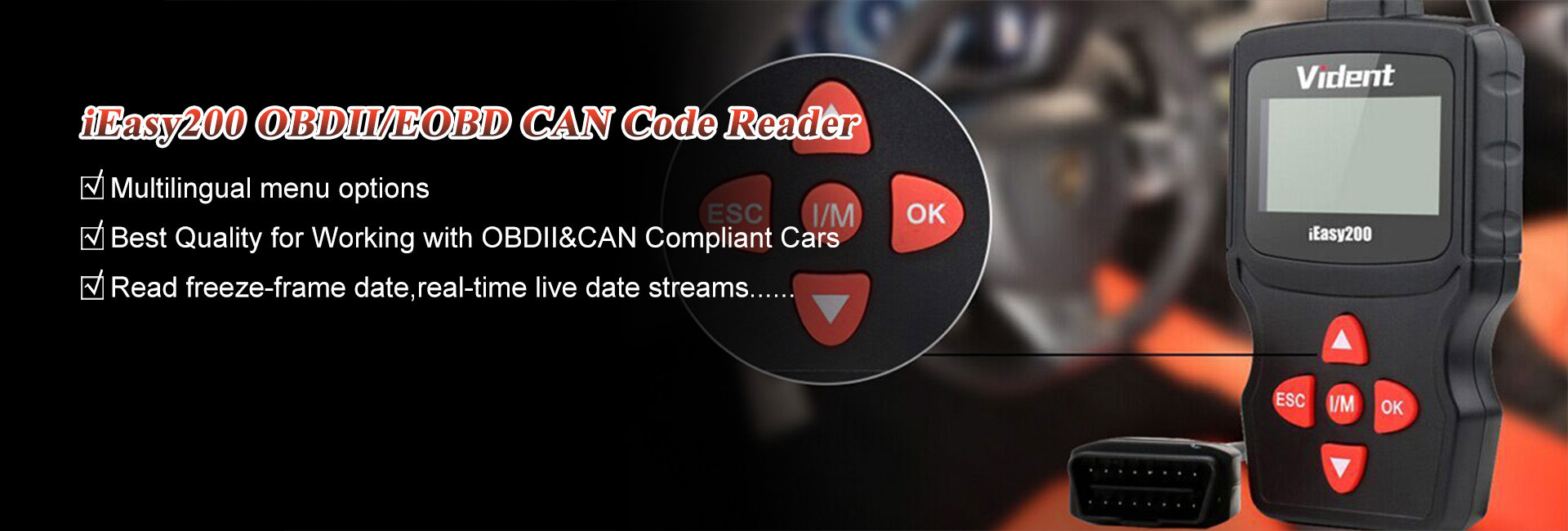 Vident iEasy200 OBD2 Scan Tool