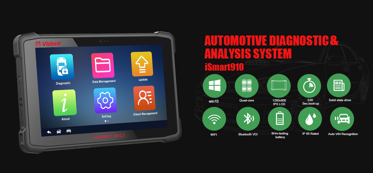 Vident iSmart910 Automative diagnostic & analysis system